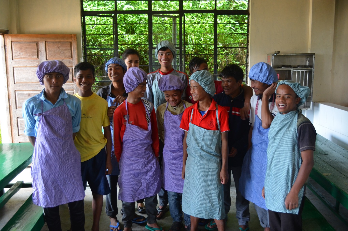 The participators of the Kids Kitchen Initiative from William Lewis Boys' Home at Mawphlang