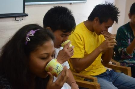 The sensory games show you how all the five senses are important to truly enjoying food.