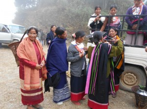 Kong Melina Syiemlieh with fellow farmers from Nagaland at the Biodiverity Fest celebrated in the Phek District.